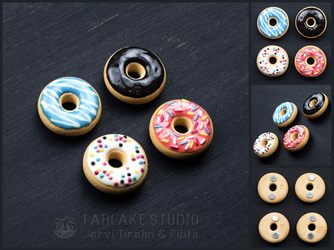 Donuts magnets set of 4