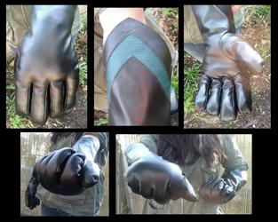 Greenery Super Hero Fursuit Gloves Closeups