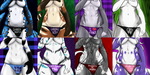 "Female ""Panties"" Icons Set"