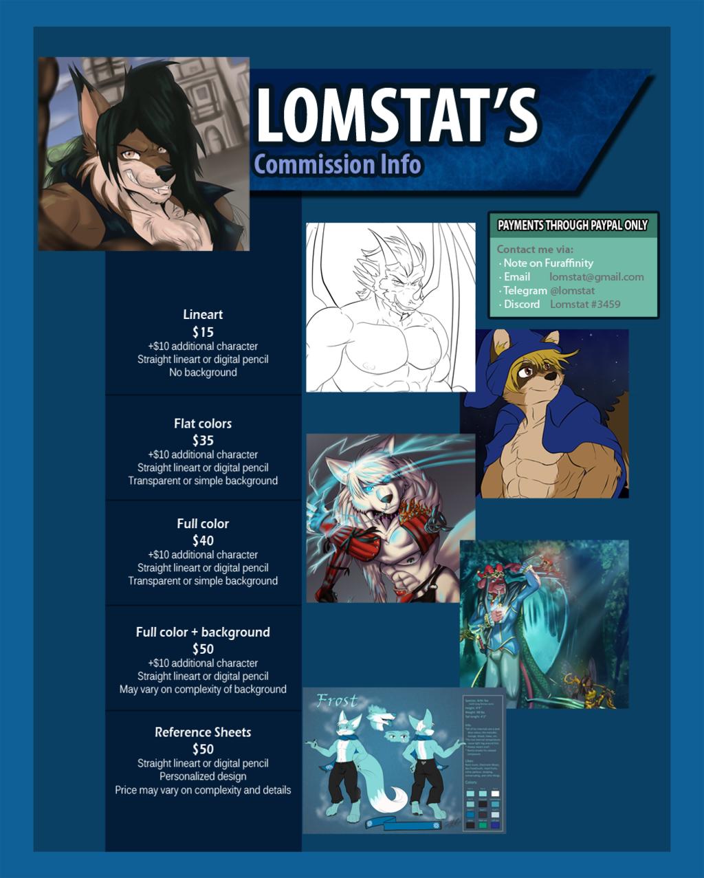 Commission info 2019