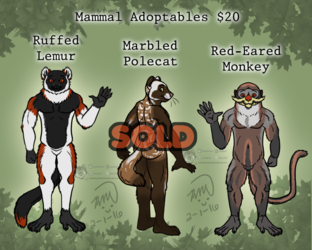Mammal Adoptables: Fuzzies