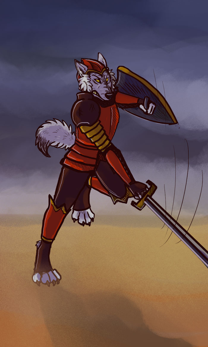 Knight of Swords Tarot Card — Weasyl