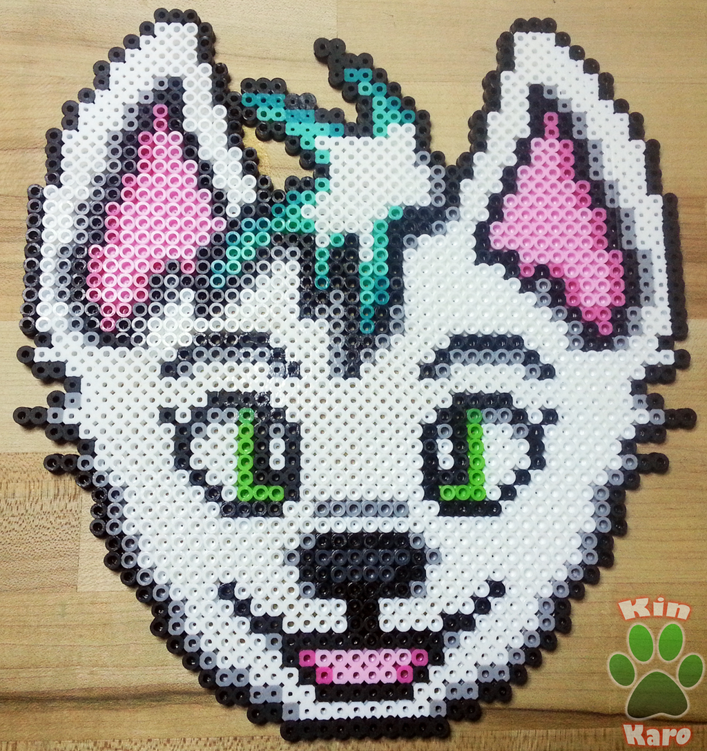 Most recent image: [RAFFLE] Frost Simple Perler Bead Badge