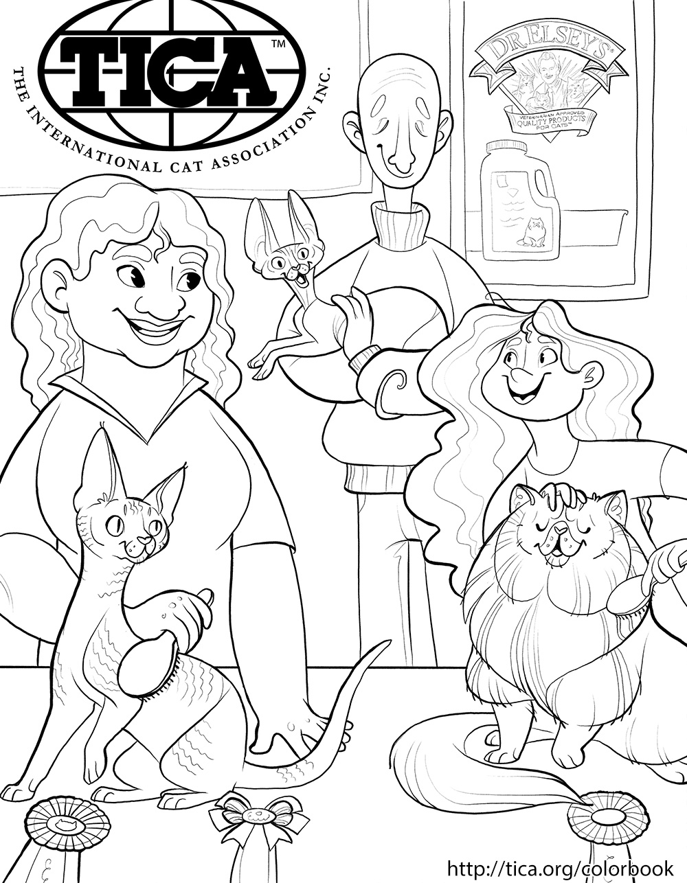 TICA Cat Coloring Book Page 3
