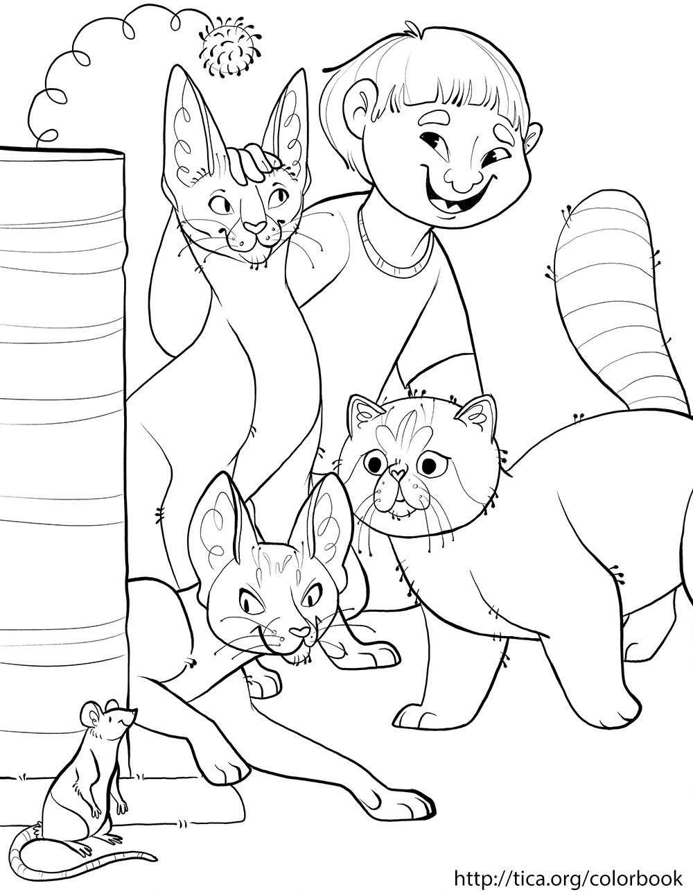 TICA Cat Coloring Book Page 5