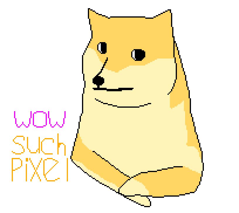 Most recent image: Pixel Doge