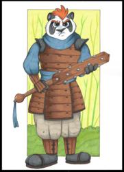 Takeyama, Panda Samurai