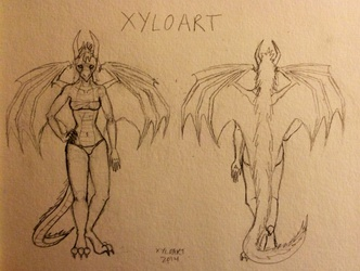Xyloart Anthro Ref Sheet Sketch