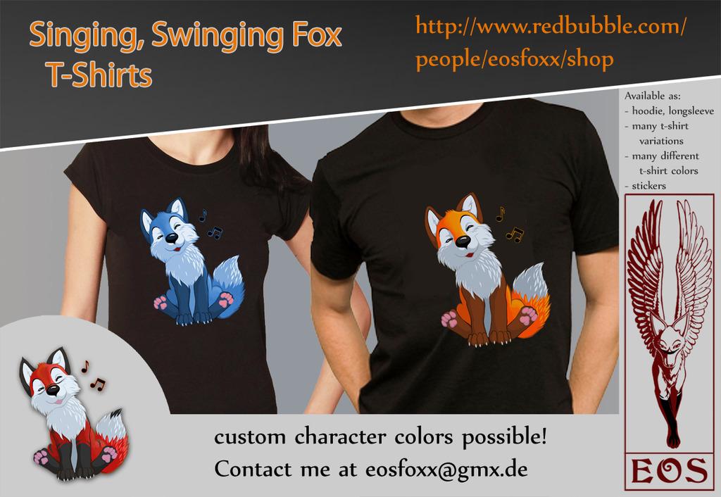 Singing, Swinging Fox T-Shirts