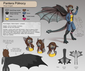 Pantera's bipedal reference sheet