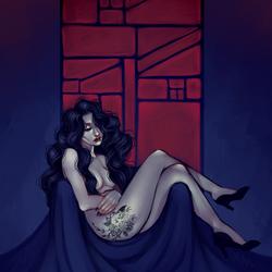 Full, Painting: Justine