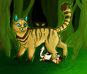 [T] Not in front of the dark forest, silly kitty