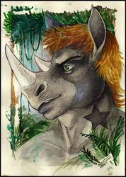 Portrait of a horned one