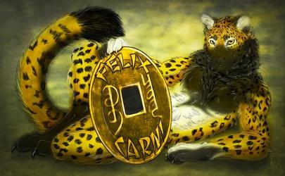"EF17 Badge -Felix ""Lucky Cat"""
