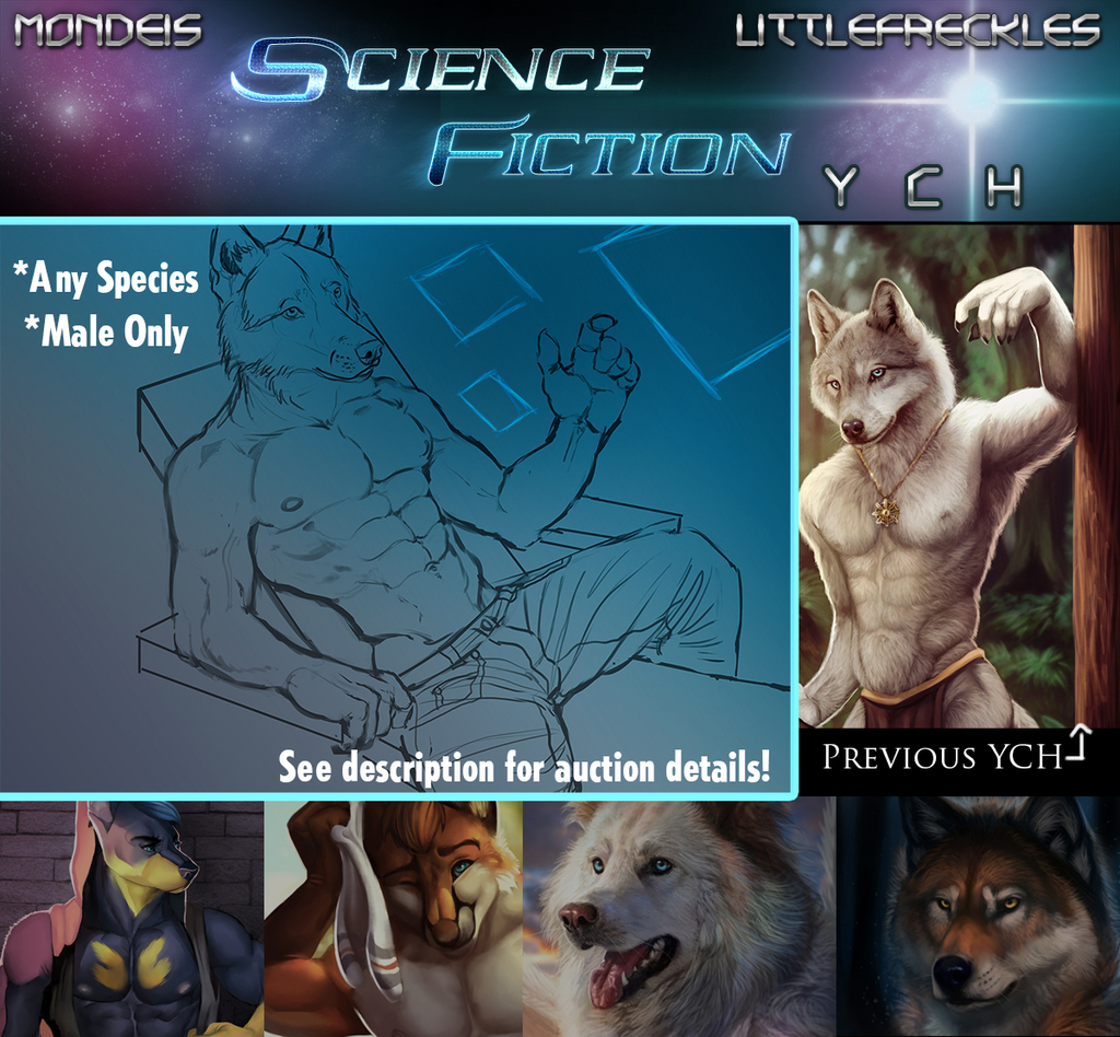 Mondeis + Littlefreckles SCIENCE FICTION YCH!