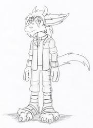 Sketch - Hunter's Winter Garb 1