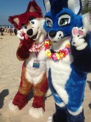 FurDU 2019: Sam and Braxton on the Beach