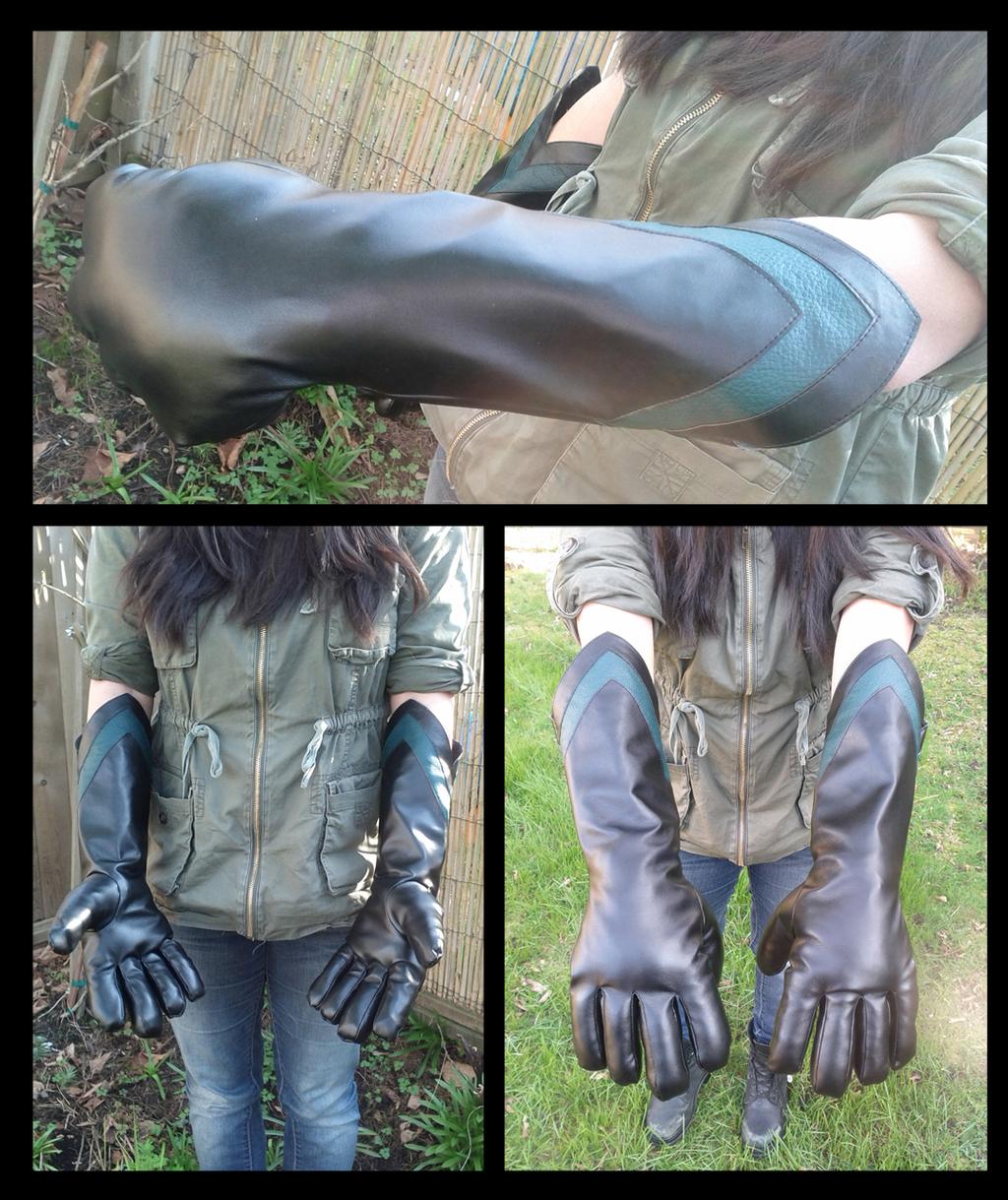 Greenery Super Hero Fursuit Gloves