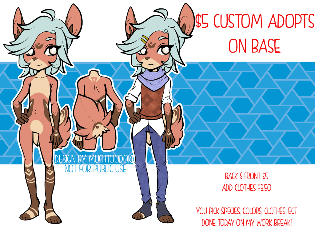 Most recent image: $5 on base customs