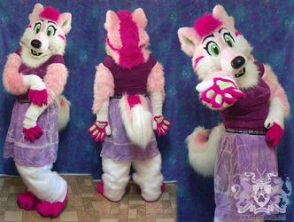Rosie the Wolfdog Partial Suit 2