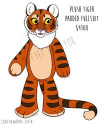 Plush Tiger Fursuit Adoptable
