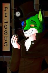 Commission - Pilosus - Steampunk Badge