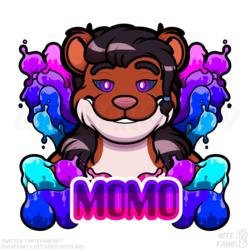 {SG} Momo Psychedelic Badge