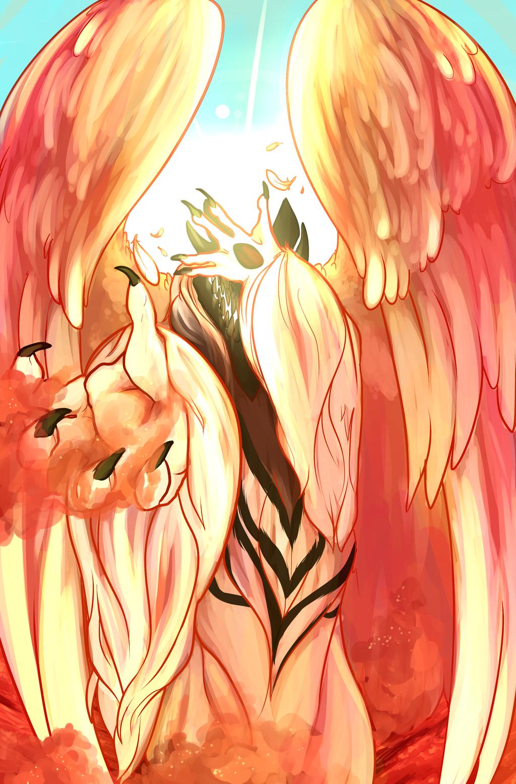 On Angel Wings, In White