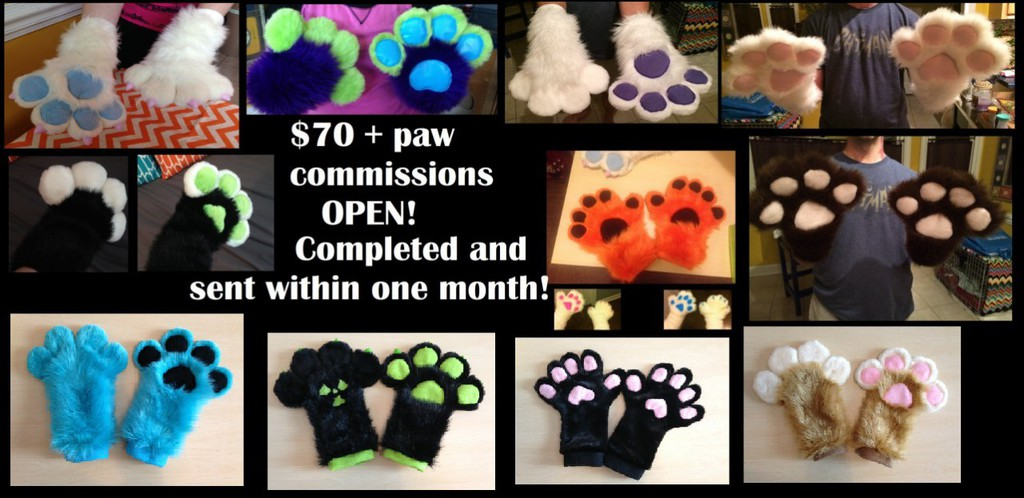 Most recent image: $70 custom handpaws and $100 hand/tail combos!