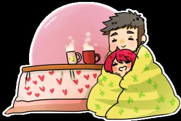 Blanket and mugs