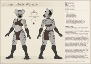Isabelle Waraabe Character Sheet