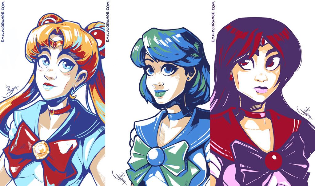 Sailor Scribbles 1-3