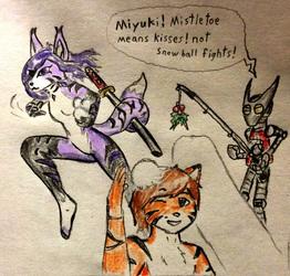 Miyuki snowball fighting Cadence