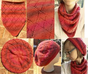 Red Diamond Cowl and Hat