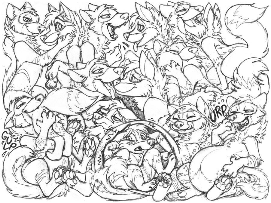 Feroxdoon92 sketchpage commission (hypno/vore)