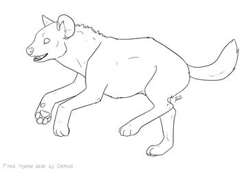 Free2use Hyena lineart