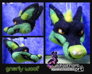 Needlefelt Gnarly Woof Ornament