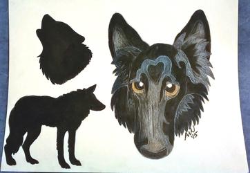 Completed Pet Portrait - Gabriel
