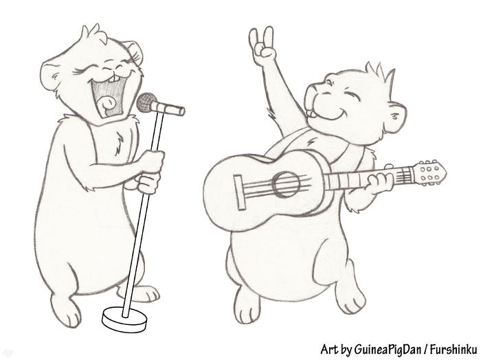 Guinea Pigs Rocking Out! (WIP)