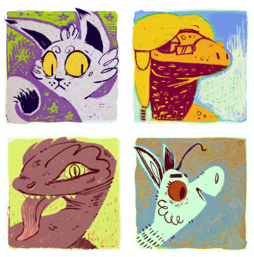 Commission: Vintage Icons IV