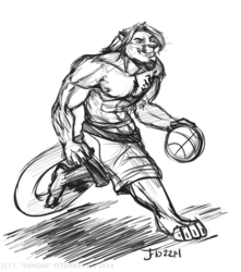 COMMISSION: Basketball Cougar