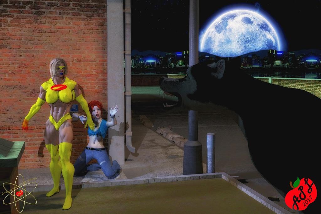 Comet Girl Defending Girl