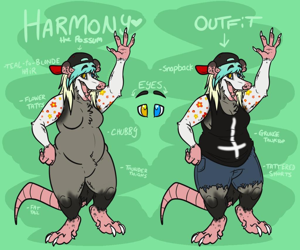 [COMM] Ref Sheet: Harmony the Possum