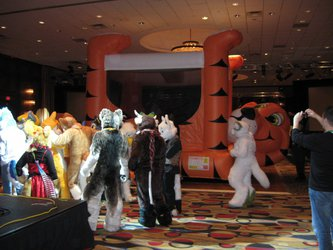 FWA 2012 - Day 1 - Bouncy Tiger Castle
