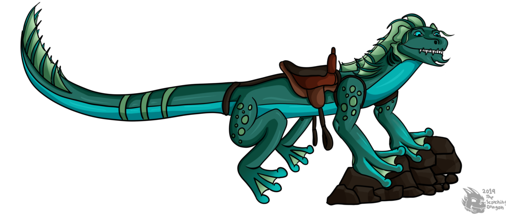Eel-frog Character (Cell shaded version)