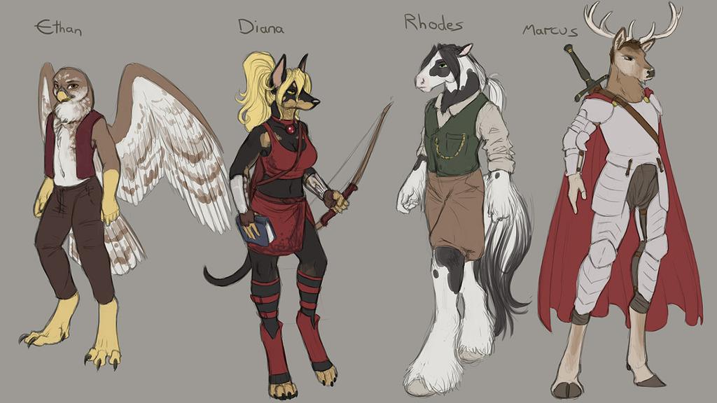 Journeys Character Sketches