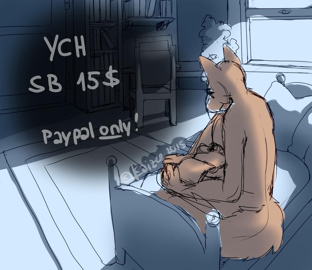 .Midnight Bookworm. (YCH, SB 15$ OPEN)