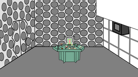flash cartoon 1973 Tardis console room