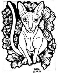 Inktober : Floral nude
