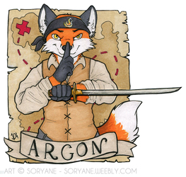 Argon - Waist-Up Badge